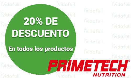 20% de descuento en productos Primetech Nutrition.