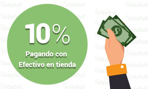 10% de descuento en tu compra total pagando en efectivo en tiendas