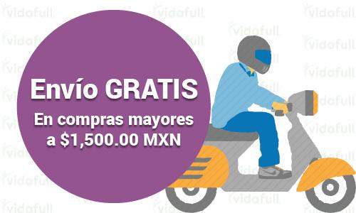 Envío GRATIS en compras mayores a $1,500.00 MXN y hasta 25 kg de peso.
