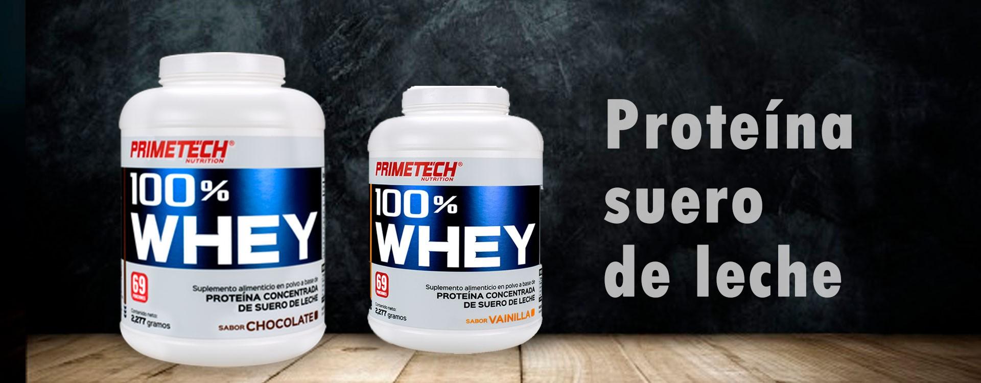 Proteína 100% Whey de calidad y al mejor precio en México